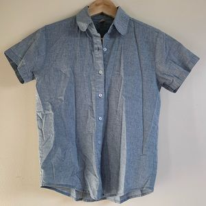 American Apparel - Short Sleeved Button Up - Small